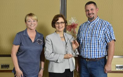 Associated Oregon Hazelnut Industries presents Congresswoman Suzanne Bonamici 2018  Legislative Champion award for leadership on Chinese agricultural tariffs